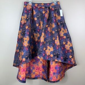 NWT Anthropologie Hutch floral high low skirt 12